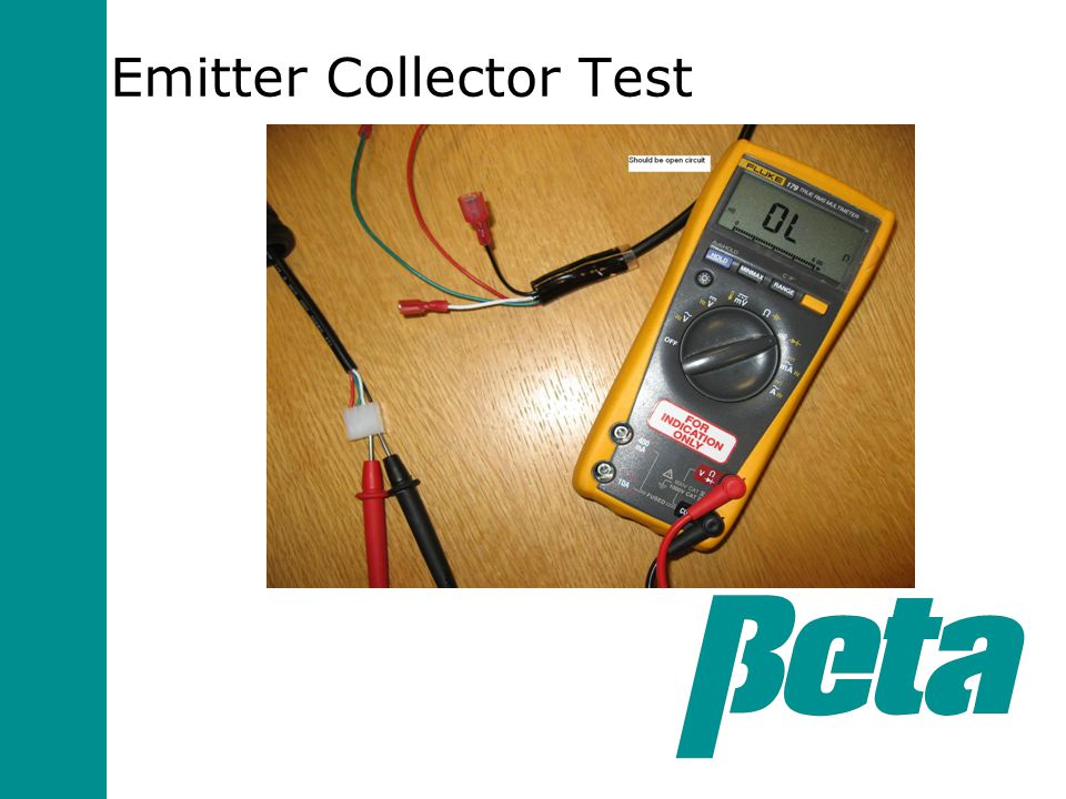 Emitter Collector Test