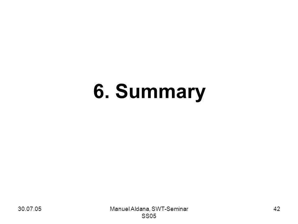 30.07.05Manuel Aldana, SWT-Seminar SS05 42 6. Summary