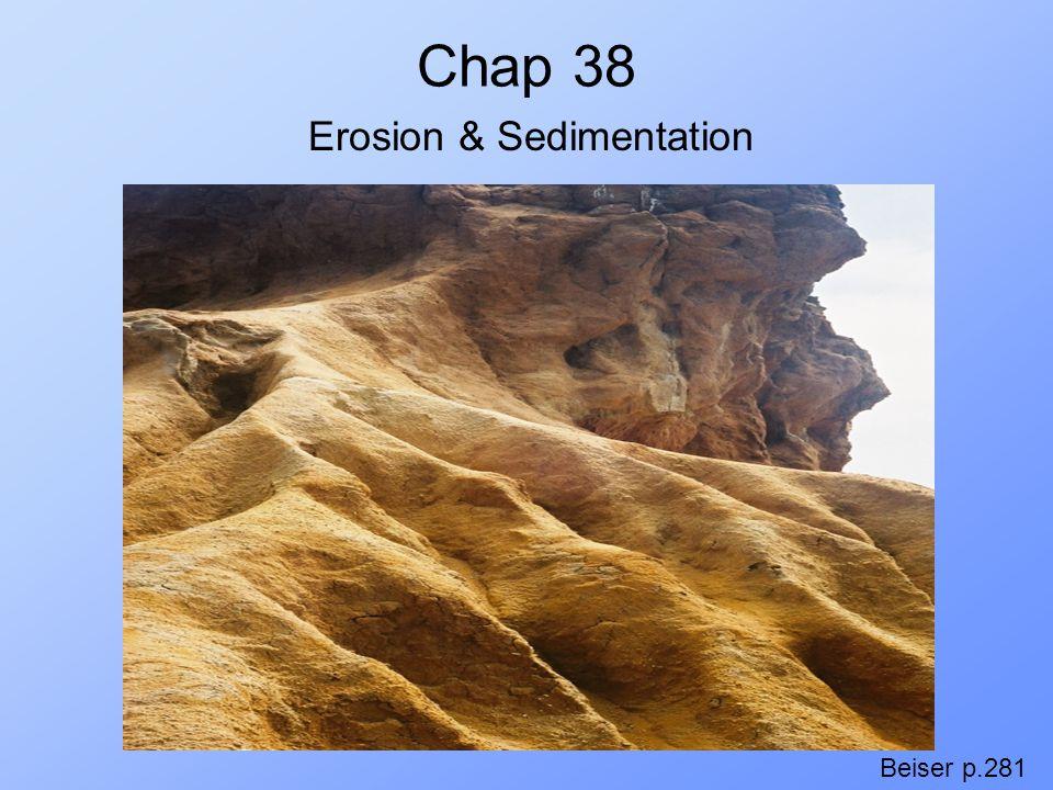 Chap 38 Beiser p.281 Erosion & Sedimentation