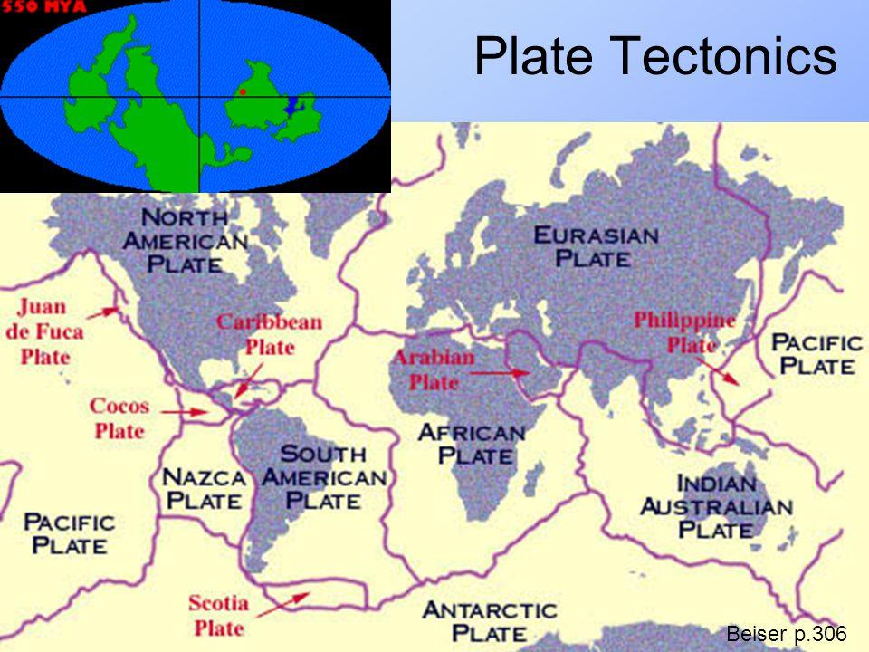 Plate Tectonics Beiser p.306