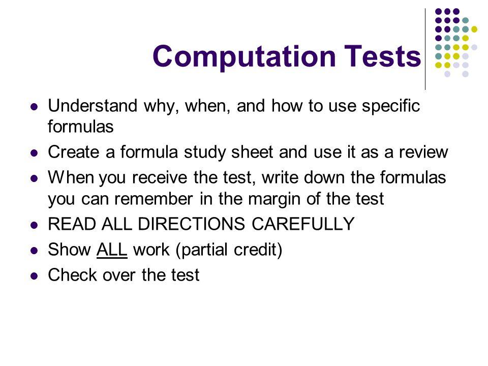 Test Taking Tips Worth Repeating!!.PREPARE, PREPARE, PREPARE-START EARLY!!.