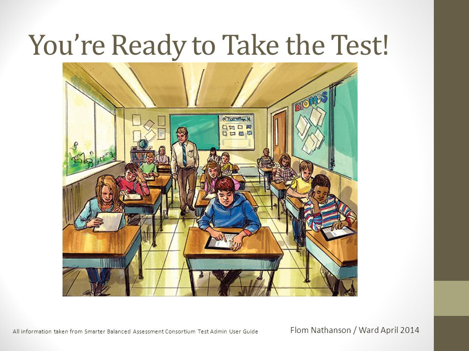 You're Ready to Take the Test.
