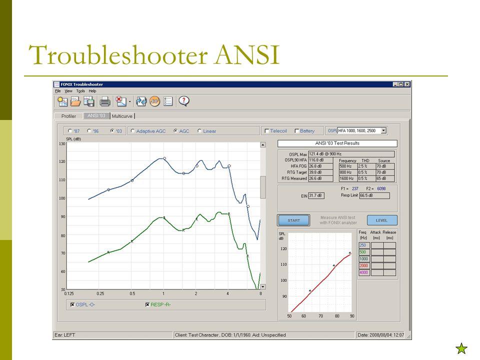 Troubleshooter ANSI