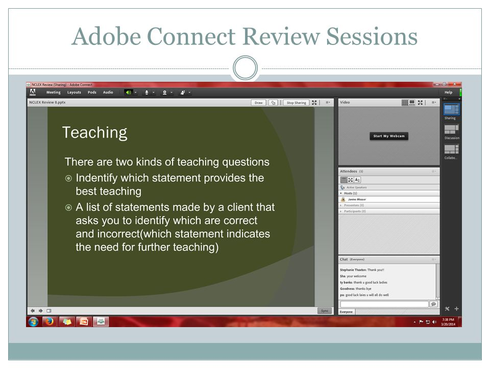 Adobe Connect Review Sessions