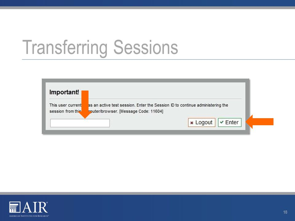 Transferring Sessions 18