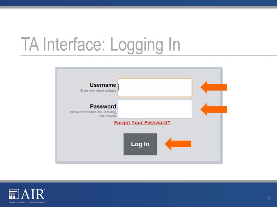 TA Interface: Overview 4