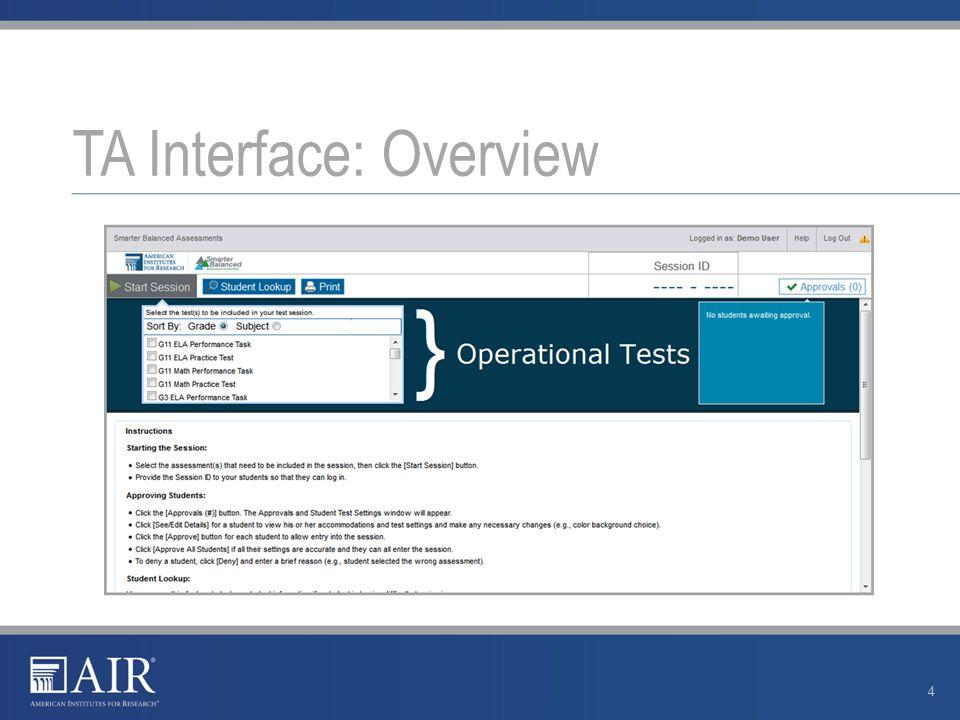 TA Interface: Navigation 5