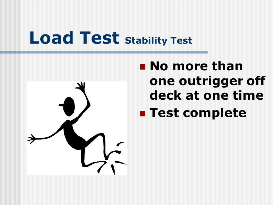 Load Test Sequence of events ACI No-Load test Load test