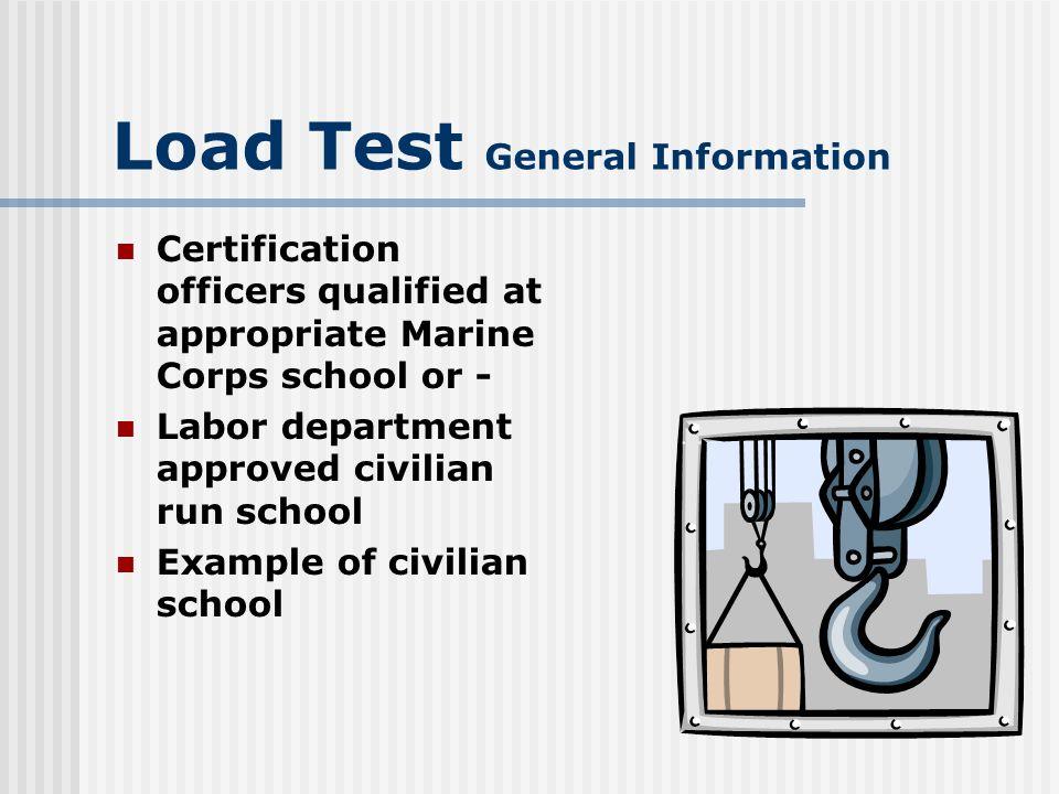 Load Test General Information Crane Institute of America North American Crane Bureau
