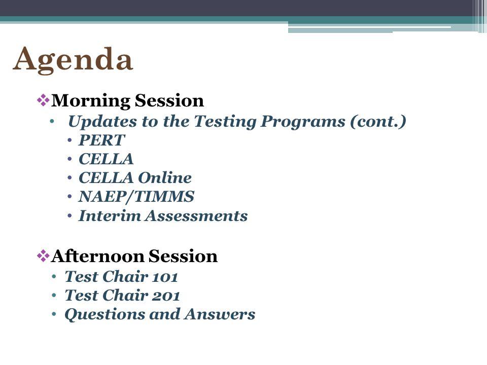 2014-15 Testing Calendar