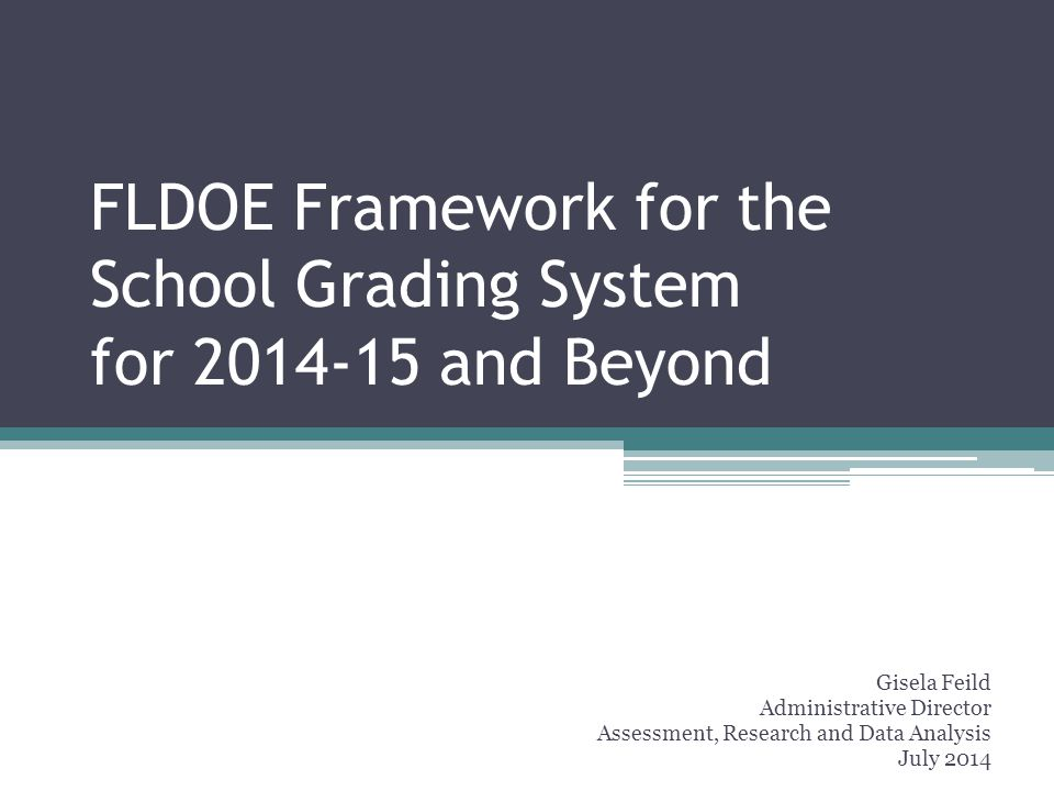 18 Summer 2016: School Grades released with consequences Assessment and Accountability Transition 2015-2016 2014-2015 2013-2014 Spring 2016: FSA administered for the 2 nd time Summer 2015: Standard setting begins to establish cut scores for the FSA Spring 2015: New Florida Standards Assessment (FSA) administered Spring 2014: FCAT 2.0 Administered Fall 2015: Baseline School Grades released based on FSA results and new cut scores Summer 2014: School Grades released with current formula and accountability measures