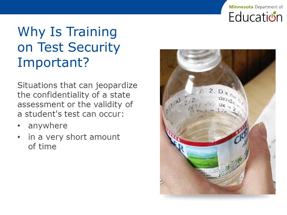 Why Is Training on Test Security Important.