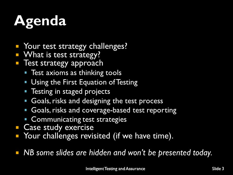  Your test strategy challenges. What is test strategy.