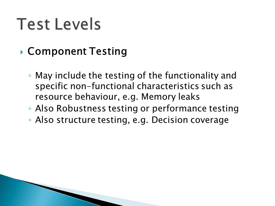  Non-Functional Testing