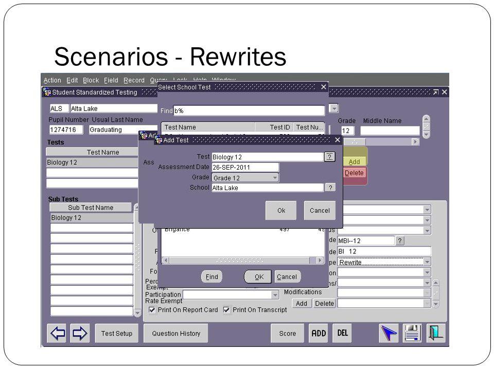 Scenarios - Rewrites