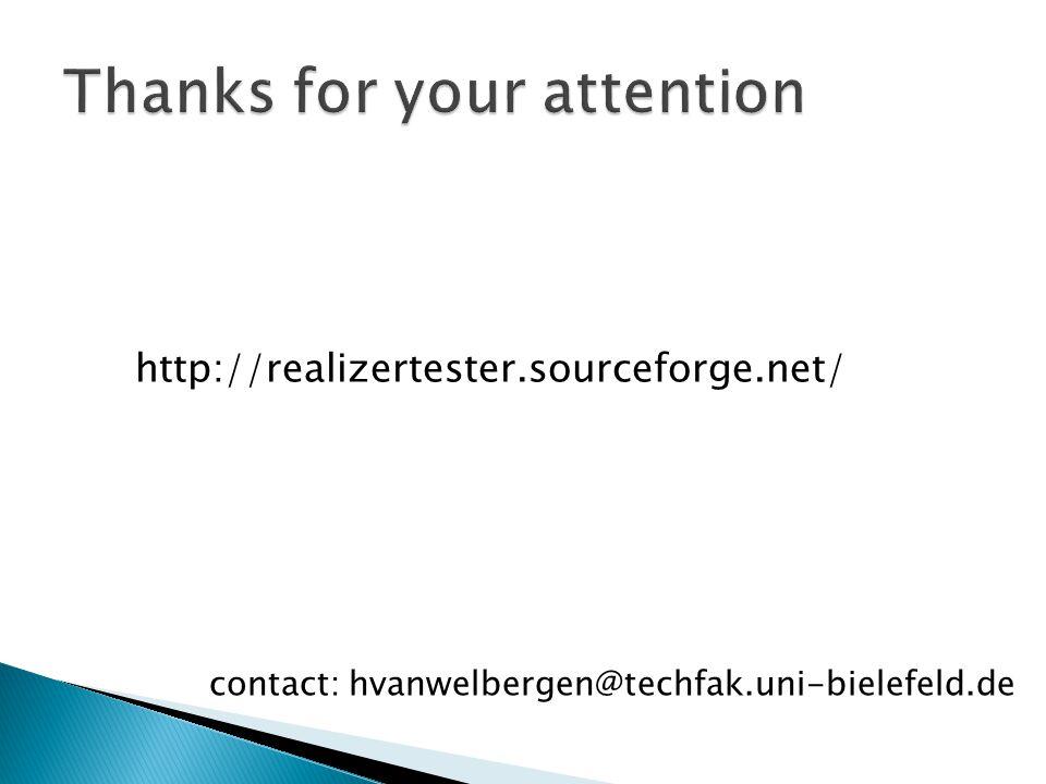 http://realizertester.sourceforge.net/ contact: hvanwelbergen@techfak.uni-bielefeld.de