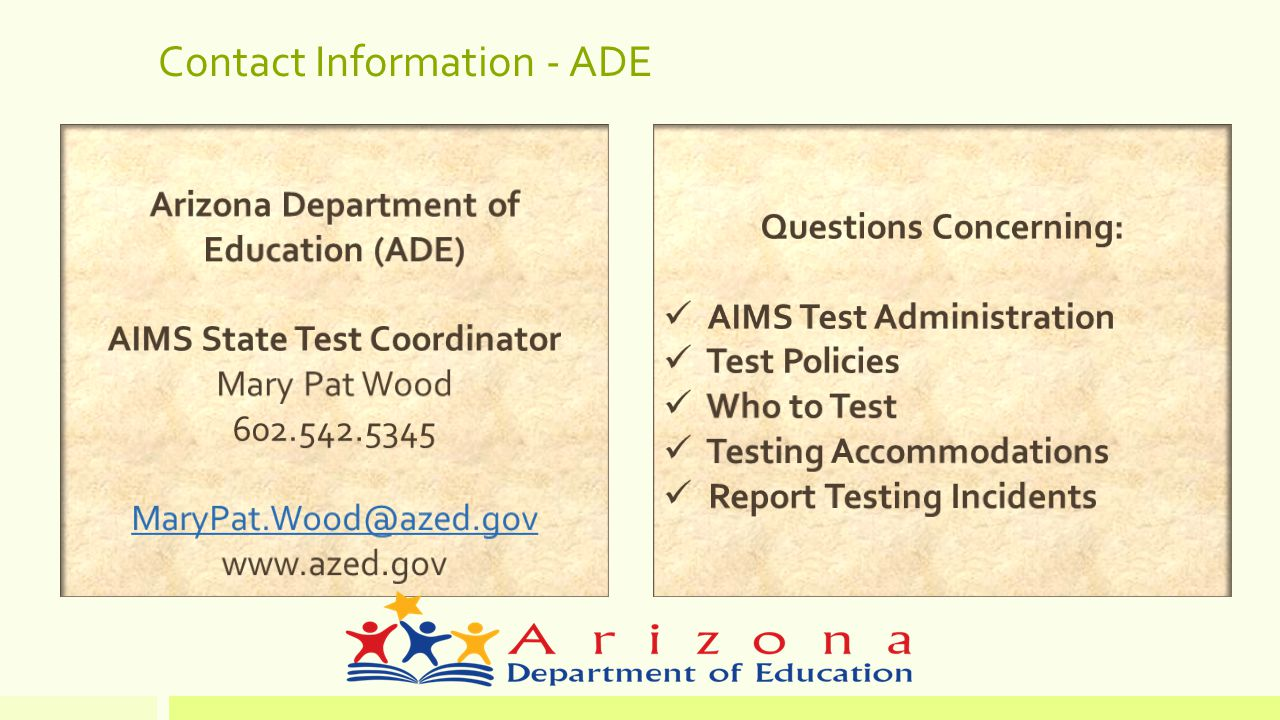 Contact Information - ADE