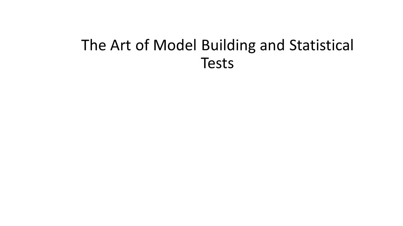 The Art of Model Building and Statistical Tests