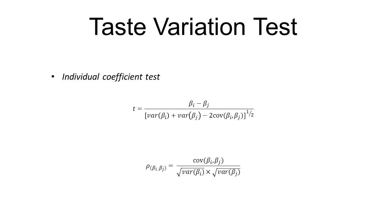 Taste Variation Test
