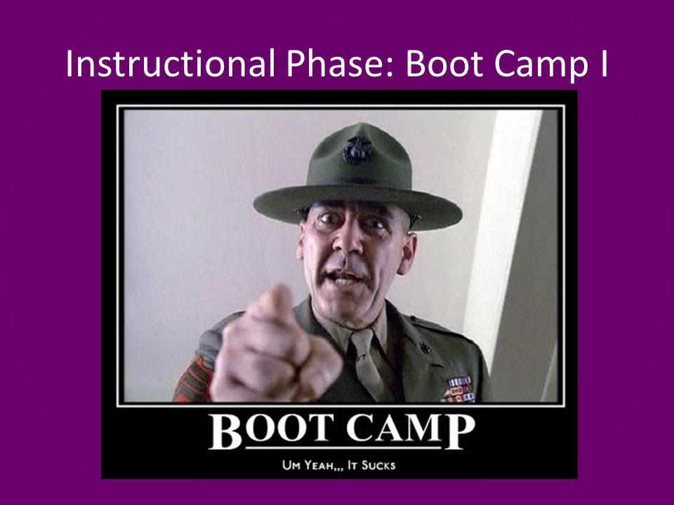 Instructional Phase: Boot Camp I