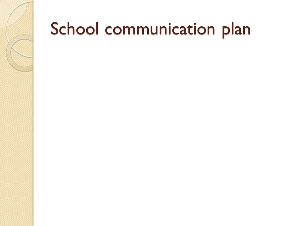 School communication plan