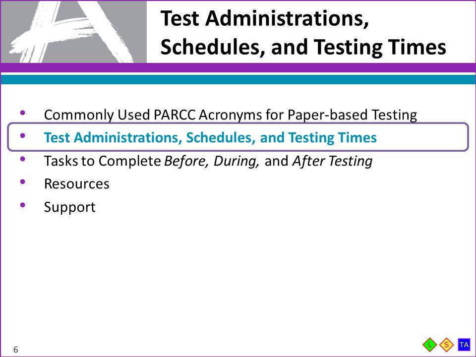 PBA Test Administration Flowchart 7 Note: This diagram illustrates grades 6-8.