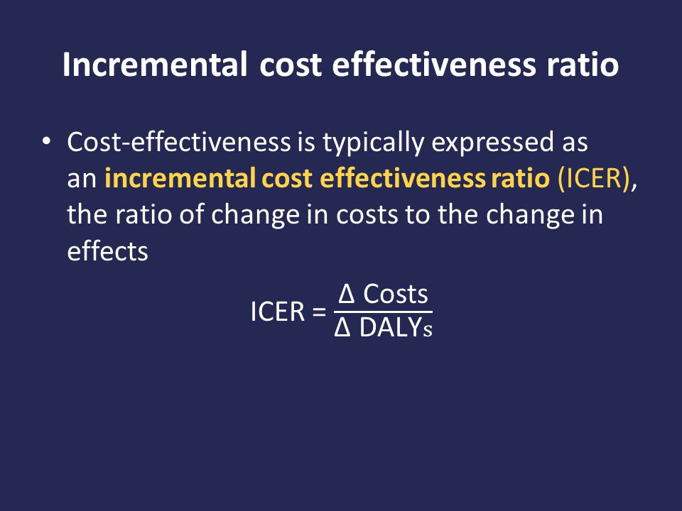 Incremental cost effectiveness ratio
