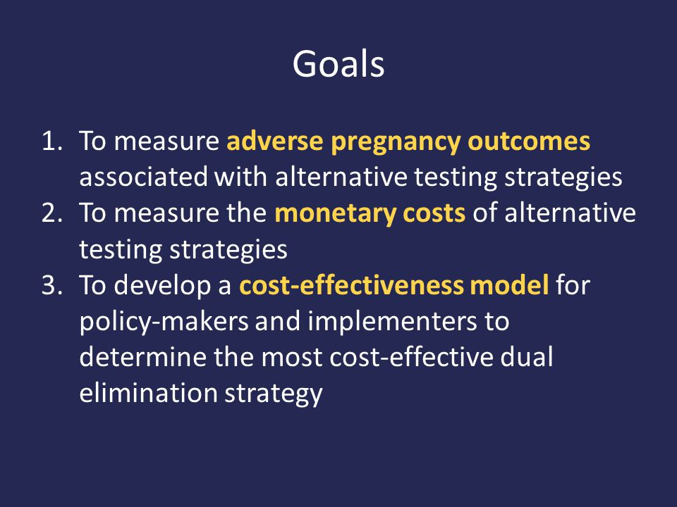 Summary results from the cohort decision model comparing the expected effects (DALYs) of the pregnancy and costs (2012 U.S.