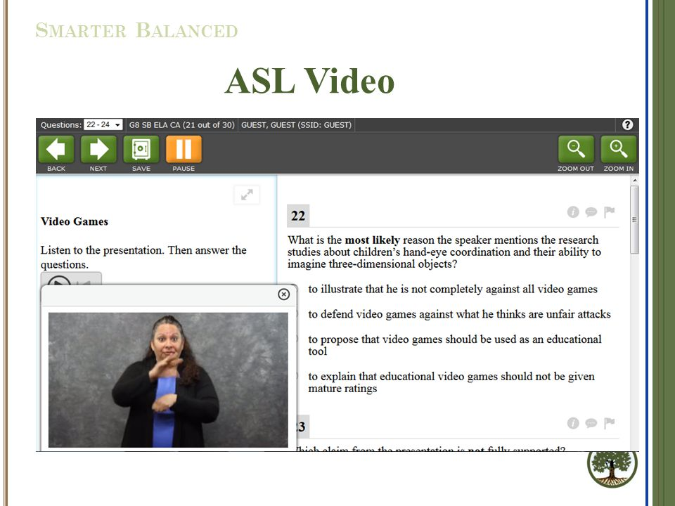 ASL Video S MARTER B ALANCED