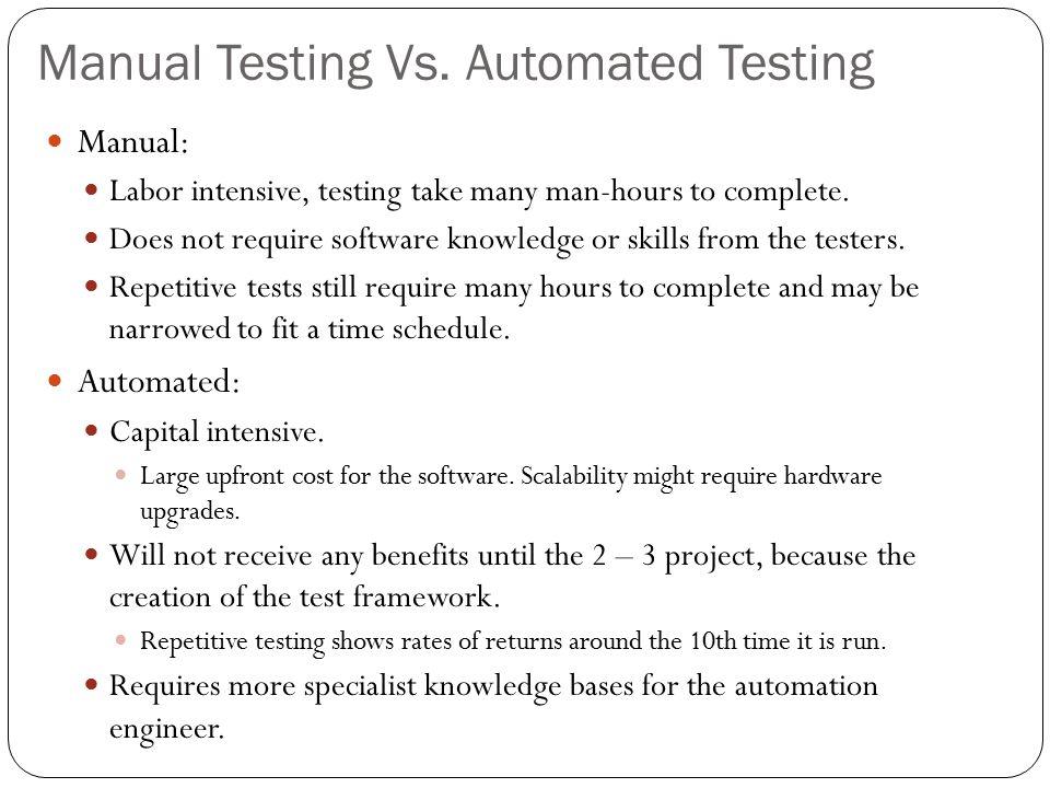 Manual Testing Vs.