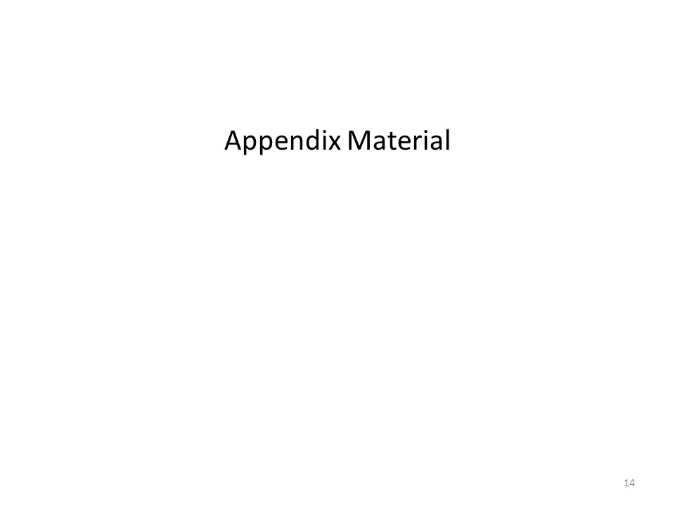 Appendix Material 14
