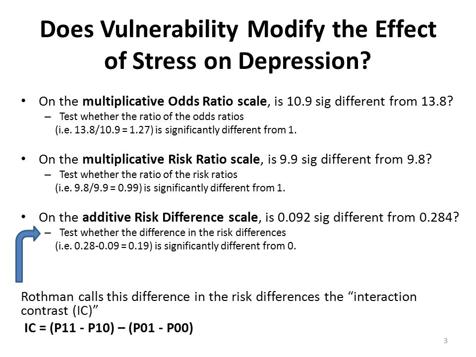 Does Vulnerability Modify the Effect of Stress on Depression.
