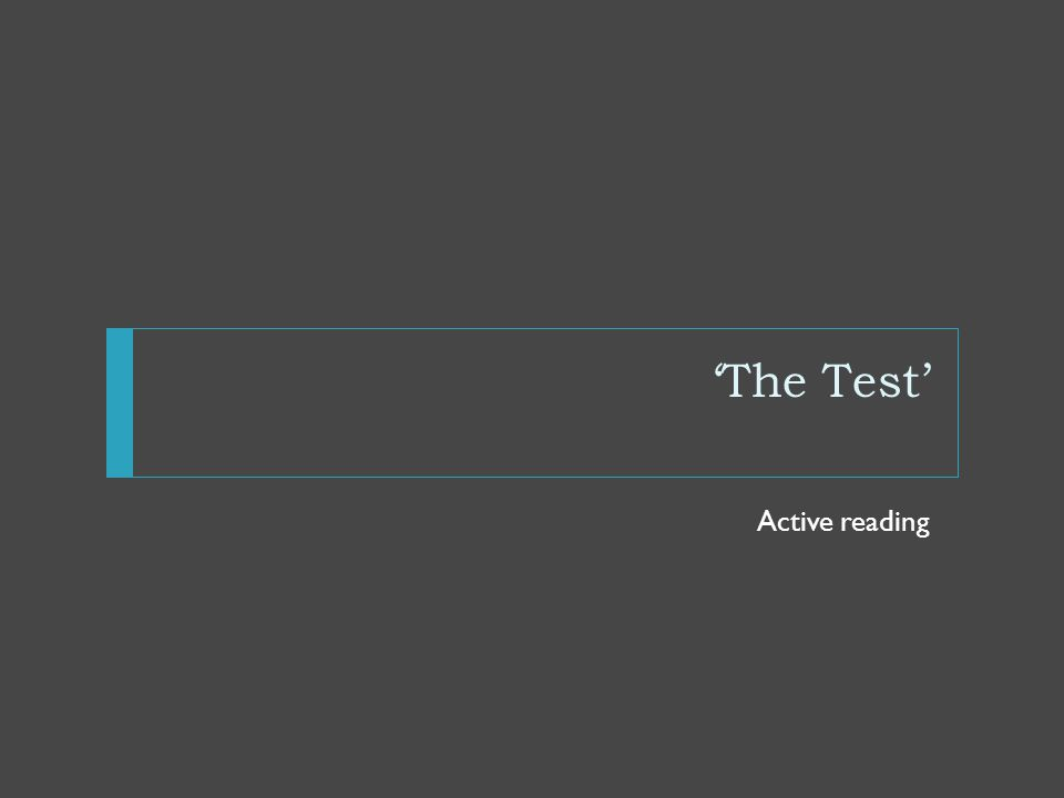 'The Test' Background Context It is important to remember that America was a much more racially divided country in those days.