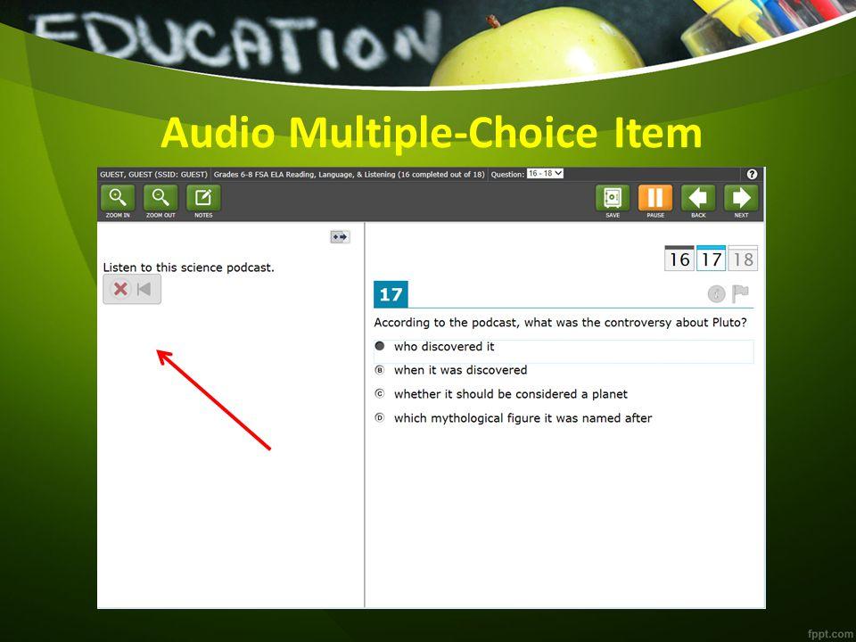 Audio Multiple-Choice Item
