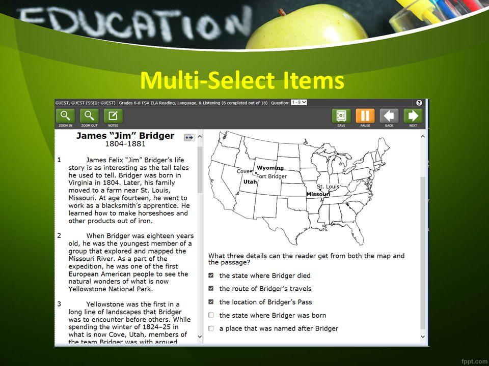 Multi-Select Items