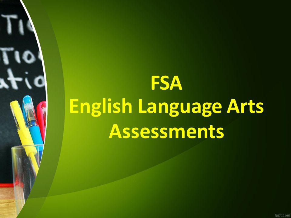 FSA English Language Arts Assessments