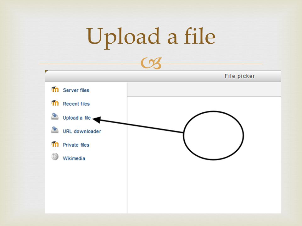  Upload a file