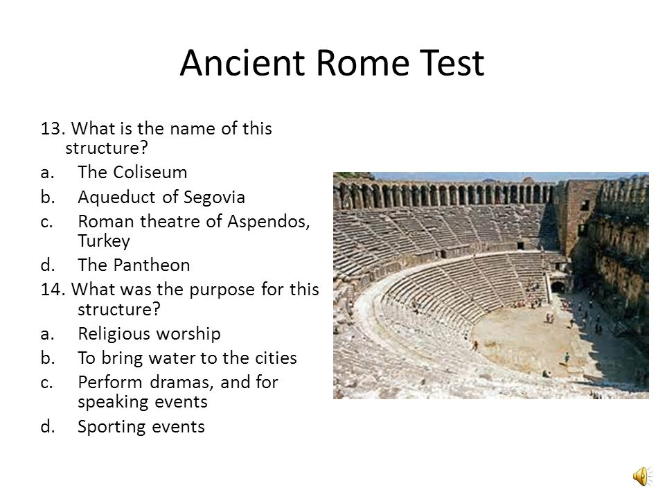 Ancient Rome Test 11. What is the name of this structure.