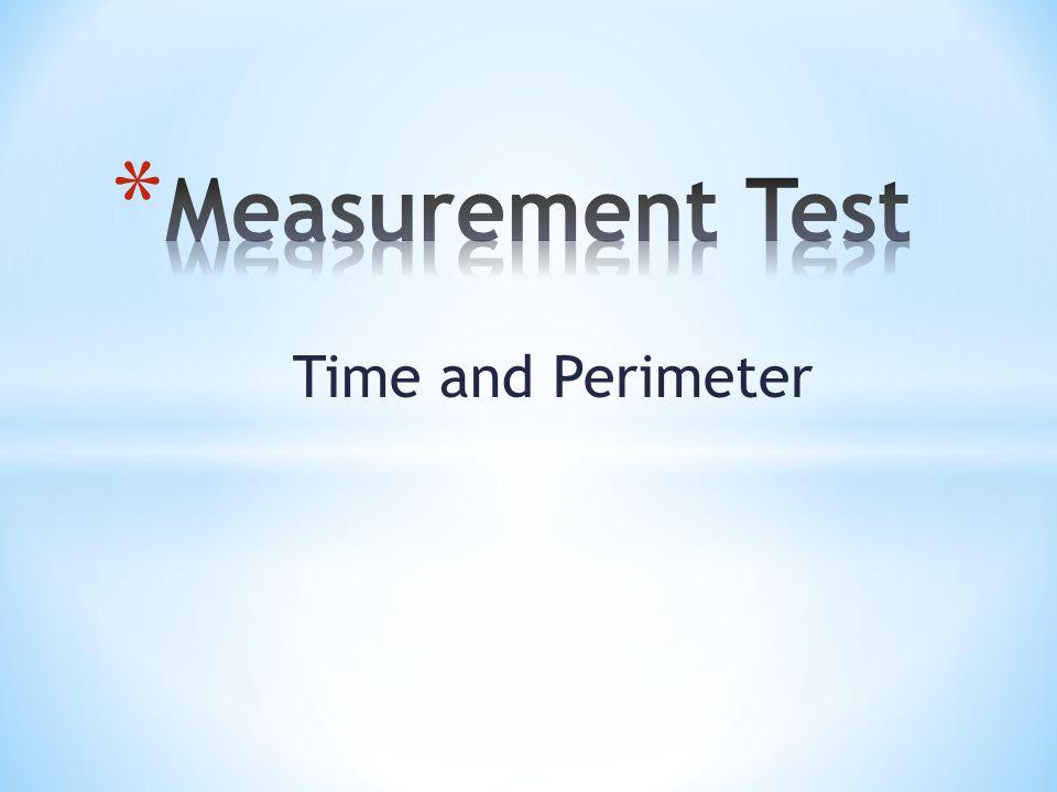 * Measure the perimeter of the shape below.