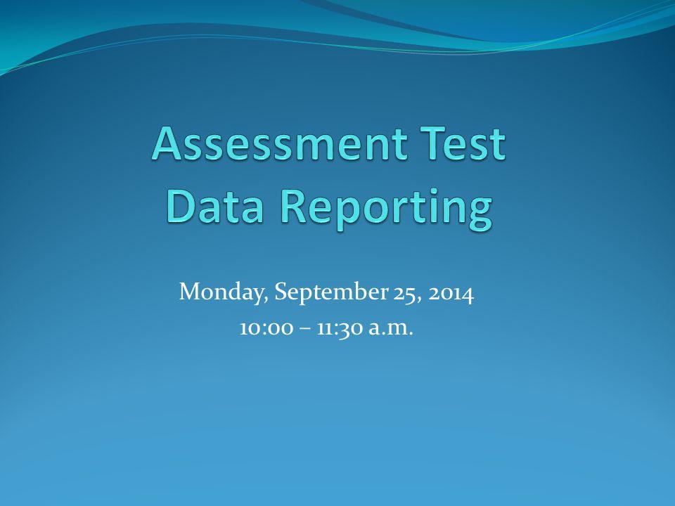 Monday, September 25, 2014 10:00 – 11:30 a.m.
