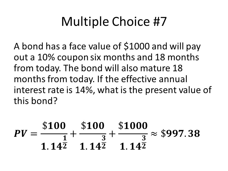 Multiple Choice #7