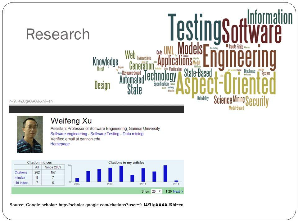Research Source: Google scholar: http://scholar.google.com/citations user=9_I4ZUgAAAAJ&hl=en