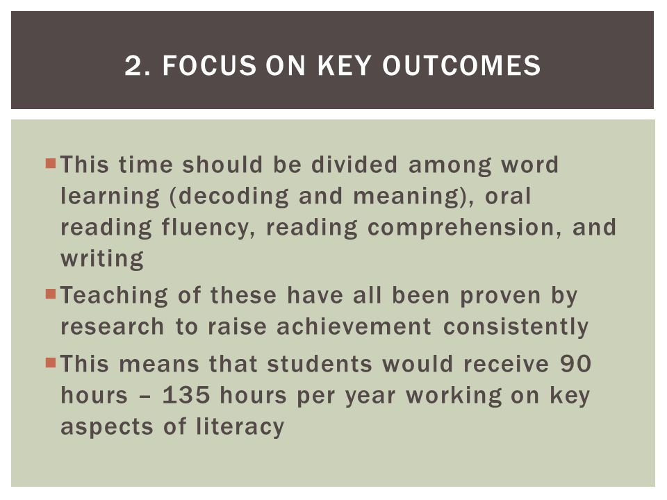  Literacy activities should involve lots of analysis, critical evaluation, problem solving, and synthesis of ideas  Discussions and written analysis should encourage students to determine what texts say, how the texts work, and the value of texts in relationship to other texts  Students need to learn and practice explaining answers on the basis of text evidence 10.