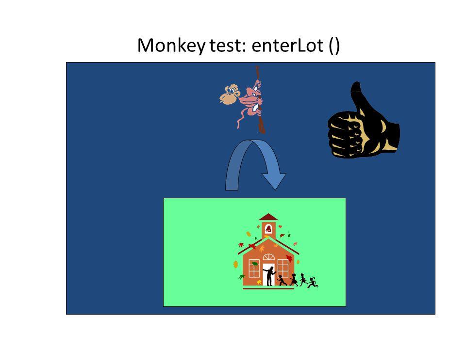 Monkey test: enterLot ()