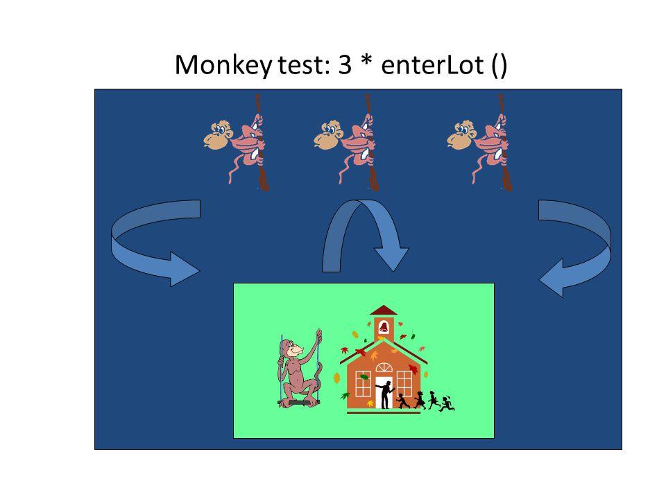 Monkey test: 3 * enterLot ()