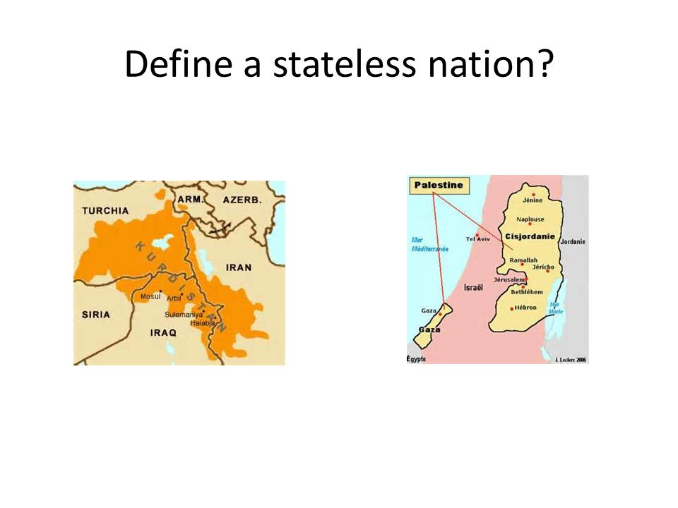 Define a stateless nation