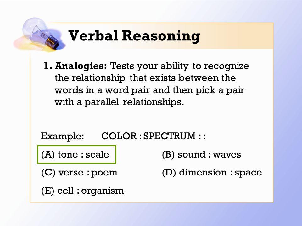 Verbal Reasoning 1.