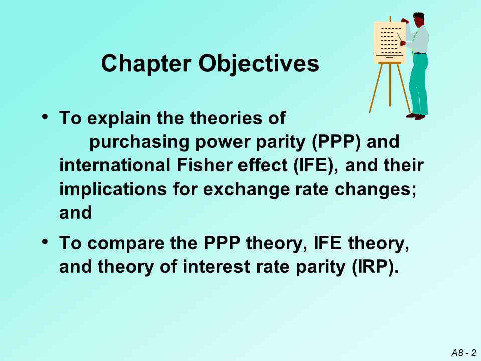 A8 - 13 PPP in the Long Run PPP can be tested by assessing a real exchange rate over time.