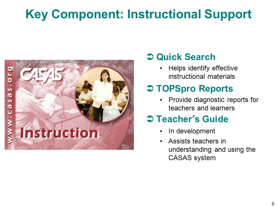 7 Key Component: Data Collection Software  Compiles and scores student assessment results  Provides more than 150 reports analyzing student test data  Tracks student progress