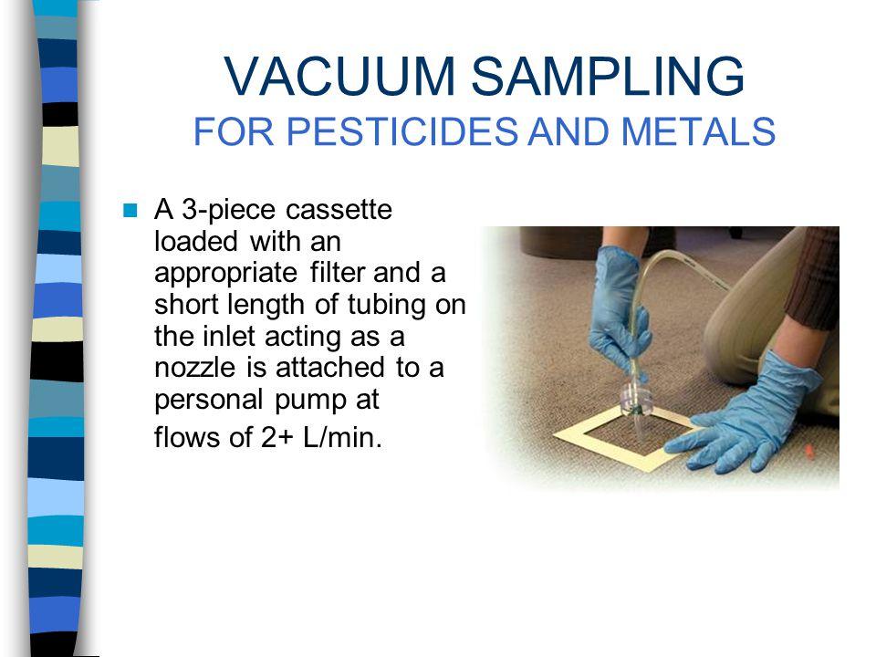 SURFACE SAMPLING OF VOLATILE CONTAMINANTS Wipe sampling is not effective for many volatile contaminants. For these compounds, surface contamination ca